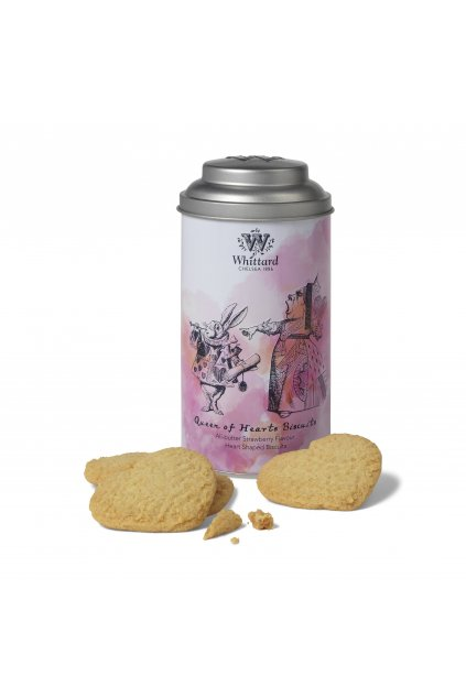 336305 QUEEN OF HEARTS STRAWBERRY FLAVOUR SHORTBREAD BISCUITS 1