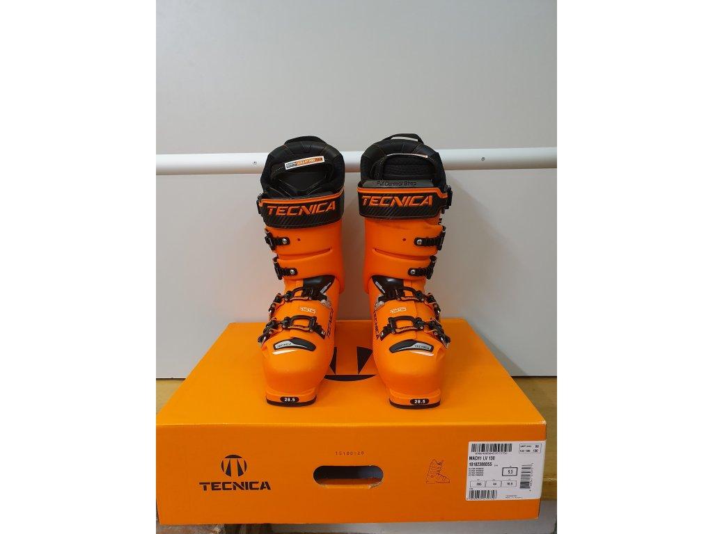 Použité lyžařské boty TECNICA Mach1 130 LV, ultra orange, 18/19