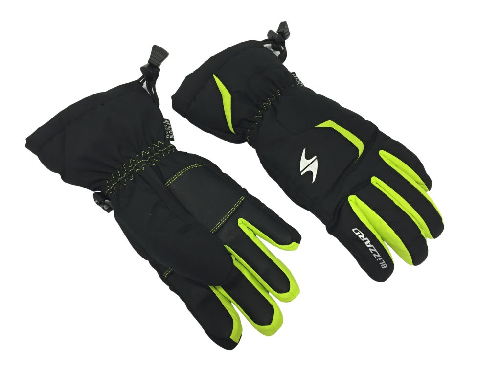 lyžařské rukavice BLIZZARD Rider junior, black/green