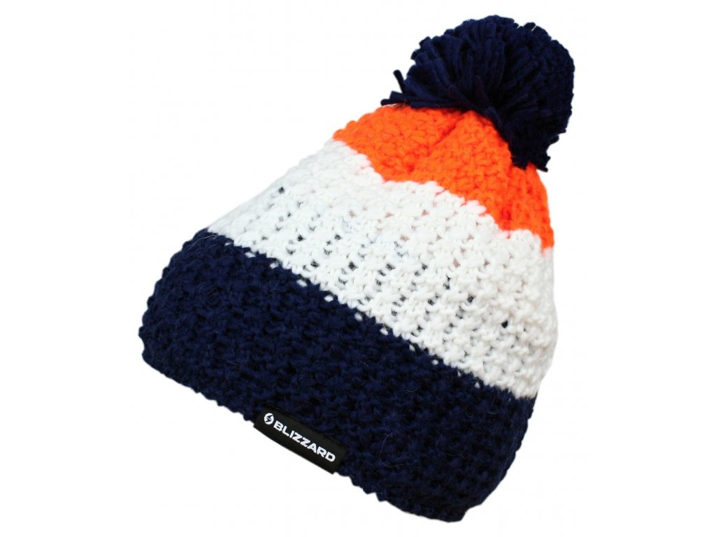 čepice BLIZZARD Tricolor,blue/white/orange