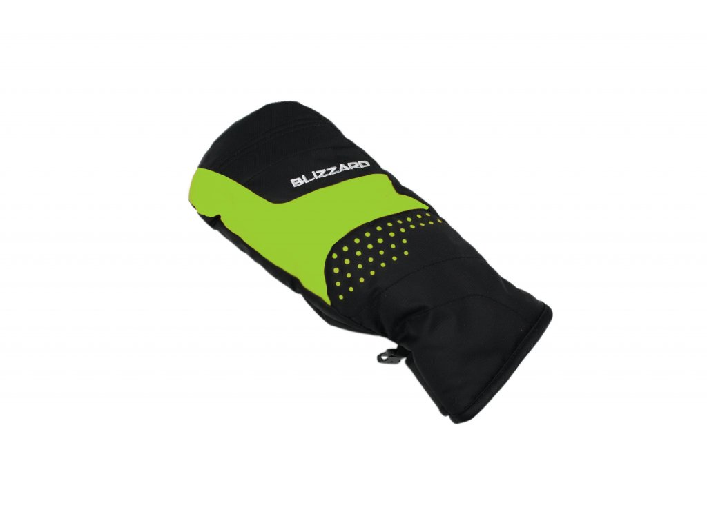 lyžařské rukavice BLIZZARD Mitten junior ski gloves, black/green