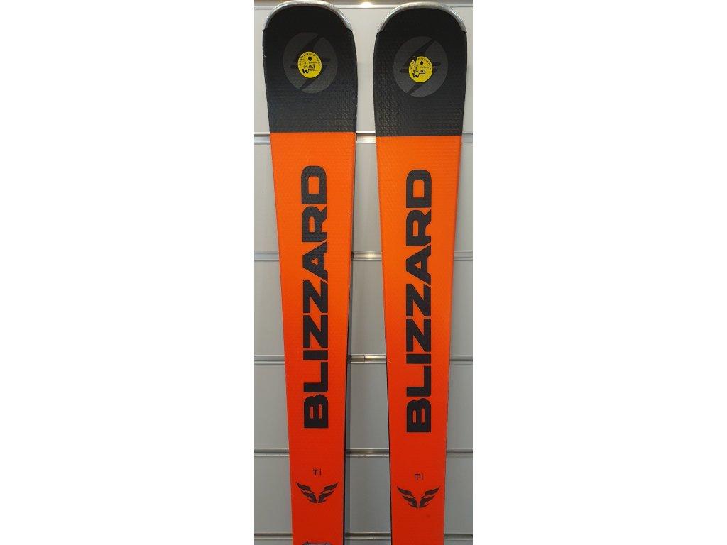 testovací lyže BLIZZARD FIREBIRD TI, black/orange + vazani BLIZZARD TPC 10 DEMO, 19/20  + seřízení vázání ZDARMA