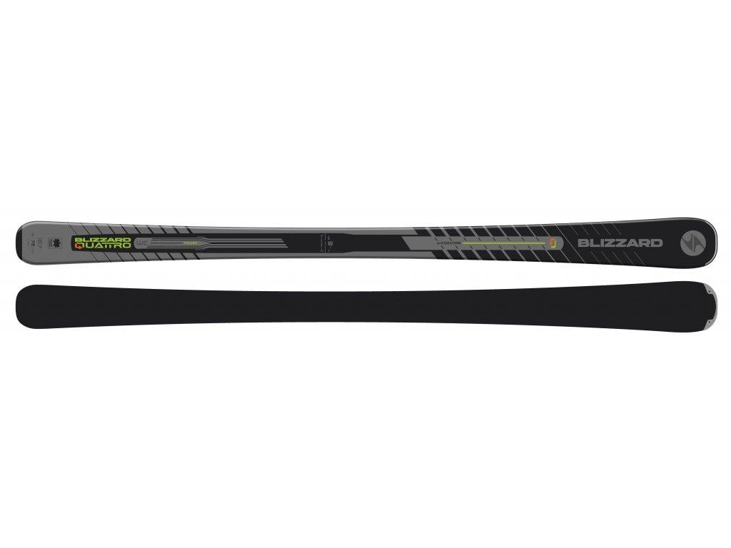 sjezdové lyže BLIZZARD Quattro POWER, black/neon/yellow, flat, 19/20