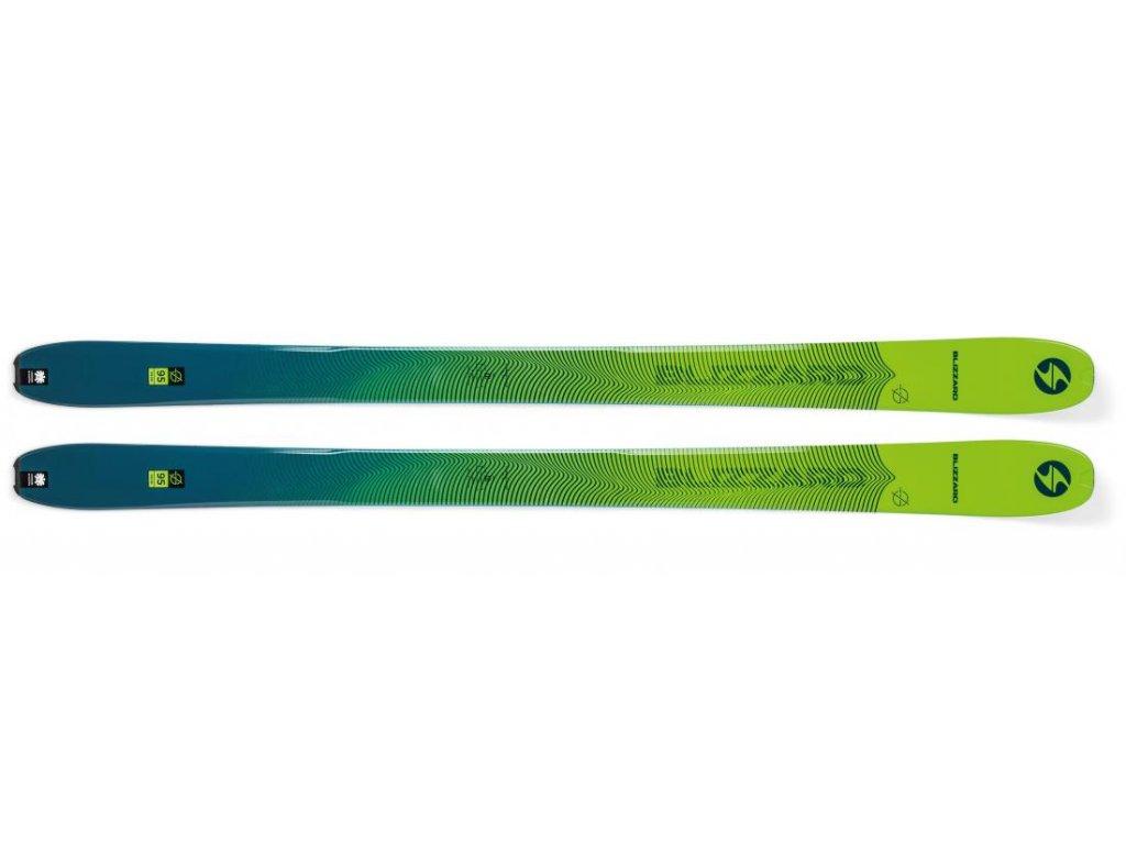 sjezdové lyže BLIZZARD Zero G 095, green/blue, flat, 20/21  + servis lyží + montáž + seřízení vázání ZDARMA
