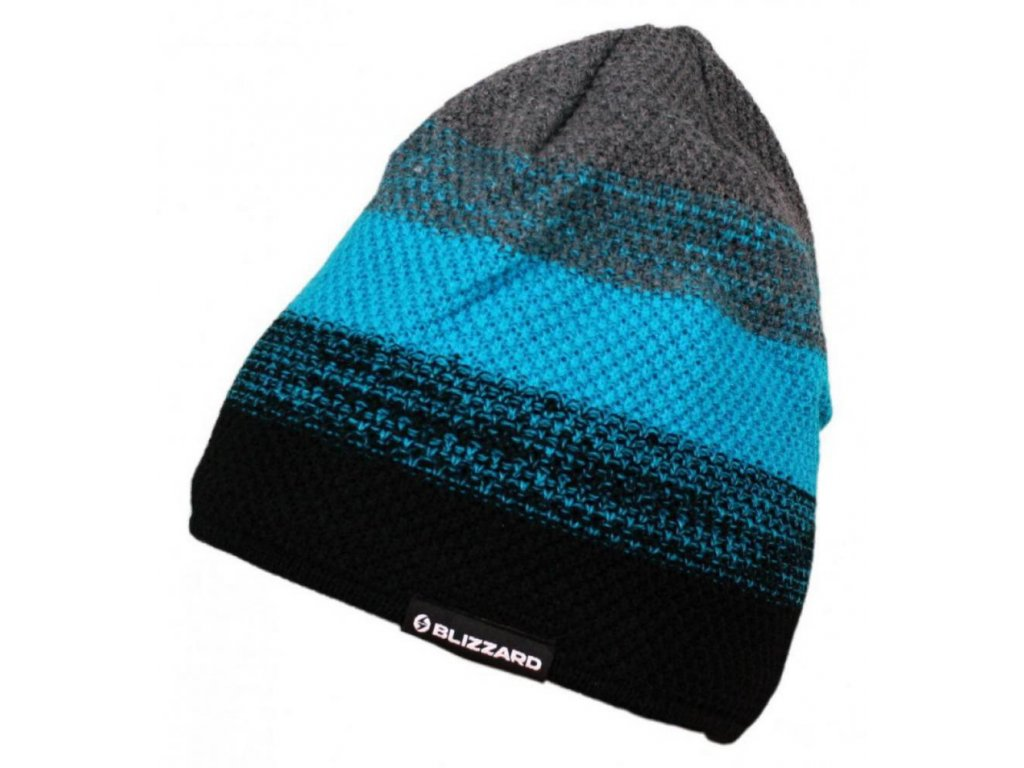 čepice BLIZZARD Cube black/blue/grey