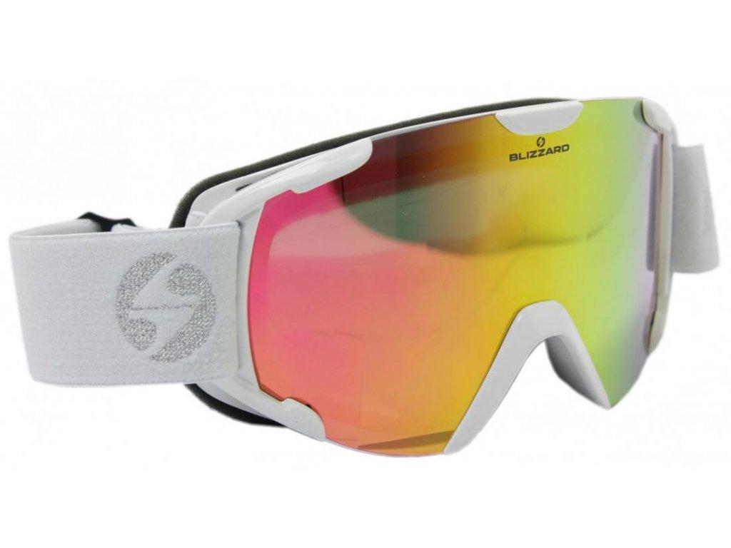 lyžařské brýle BLIZZARD Ski Gog. 938 MDAVZO, white shiny, smoke2, pink revo