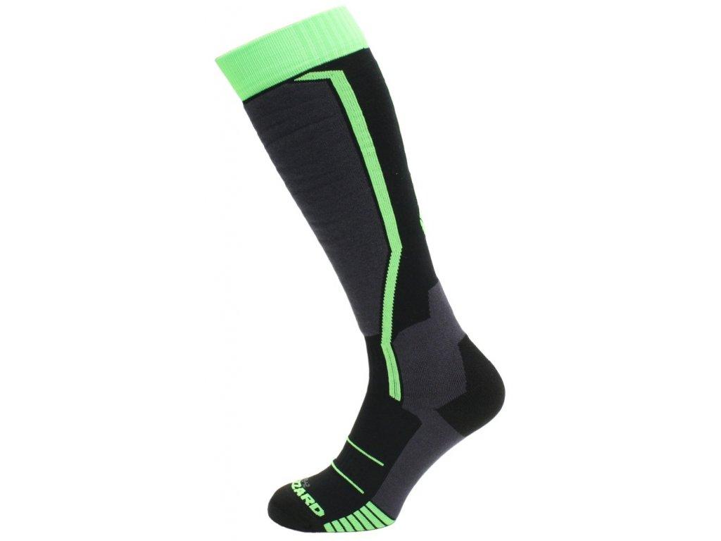 lyžařské ponožky BLIZZARD Allround ski socks, black/anthracite/green, AKCE
