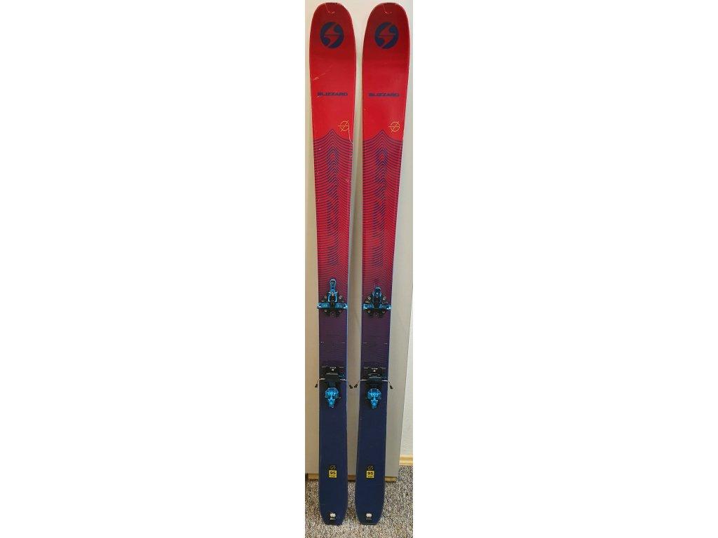 testovací skialpové lyže BLIZZARD Zero G 095, red/blue, 19/20