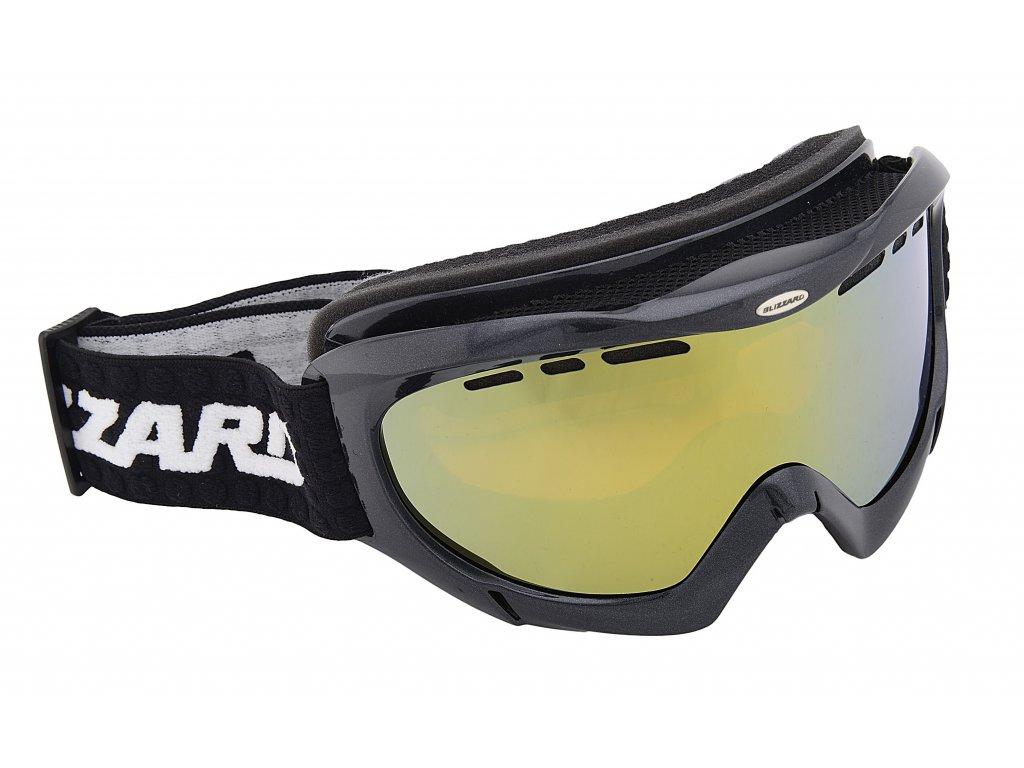 lyžařské brýle BLIZZARD Ski Gog. 912 MDAVZP, black met., honey2, gold mir., polarized, AKCE