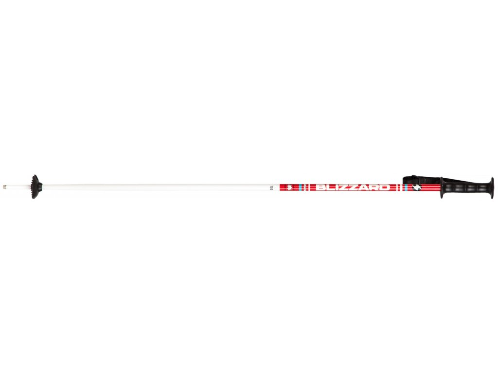 lyžařské hůlky BLIZZARD Race junior ski poles, white/red