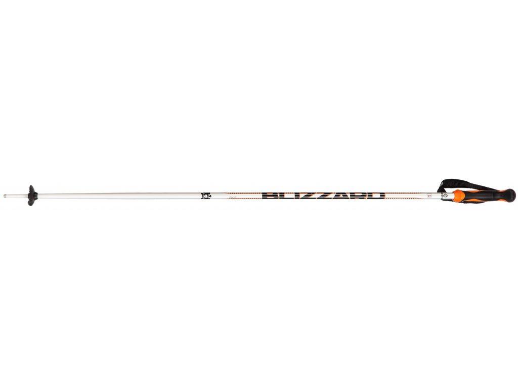 lyžařské hůlky BLIZZARD Allmountain ski poles, silver/neon orange