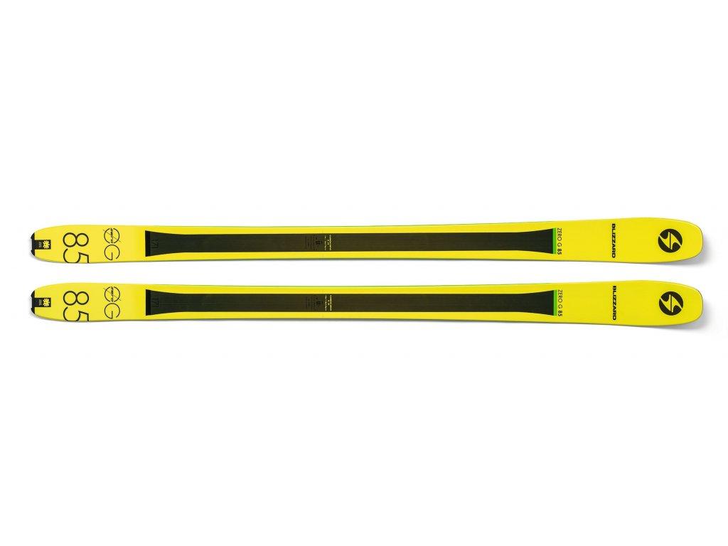 sjezdové lyže BLIZZARD Zero G 085, flat, yellow, 18/19  + servis lyží + montáž + seřízení vázání ZDARMA