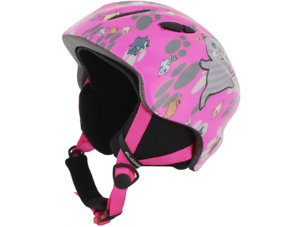 helma BLIZZARD Magnum ski helmet junior, pink cat shiny