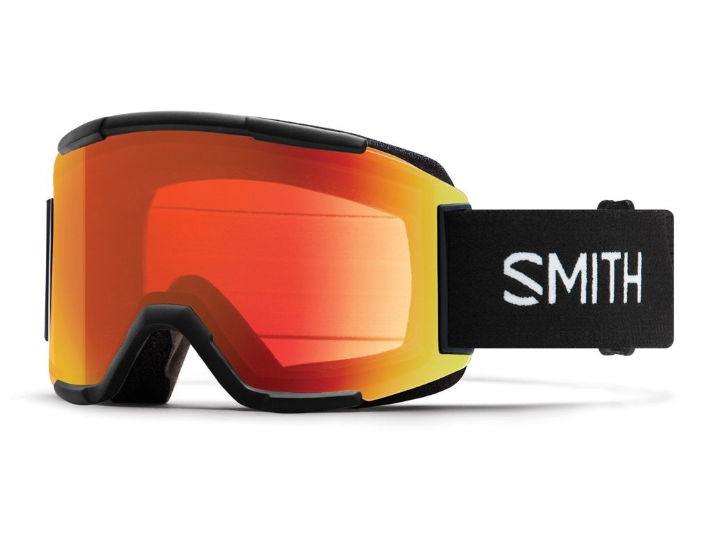 SMITH SQUAD, BLACK, 18/19, chromapop red miror, yellow