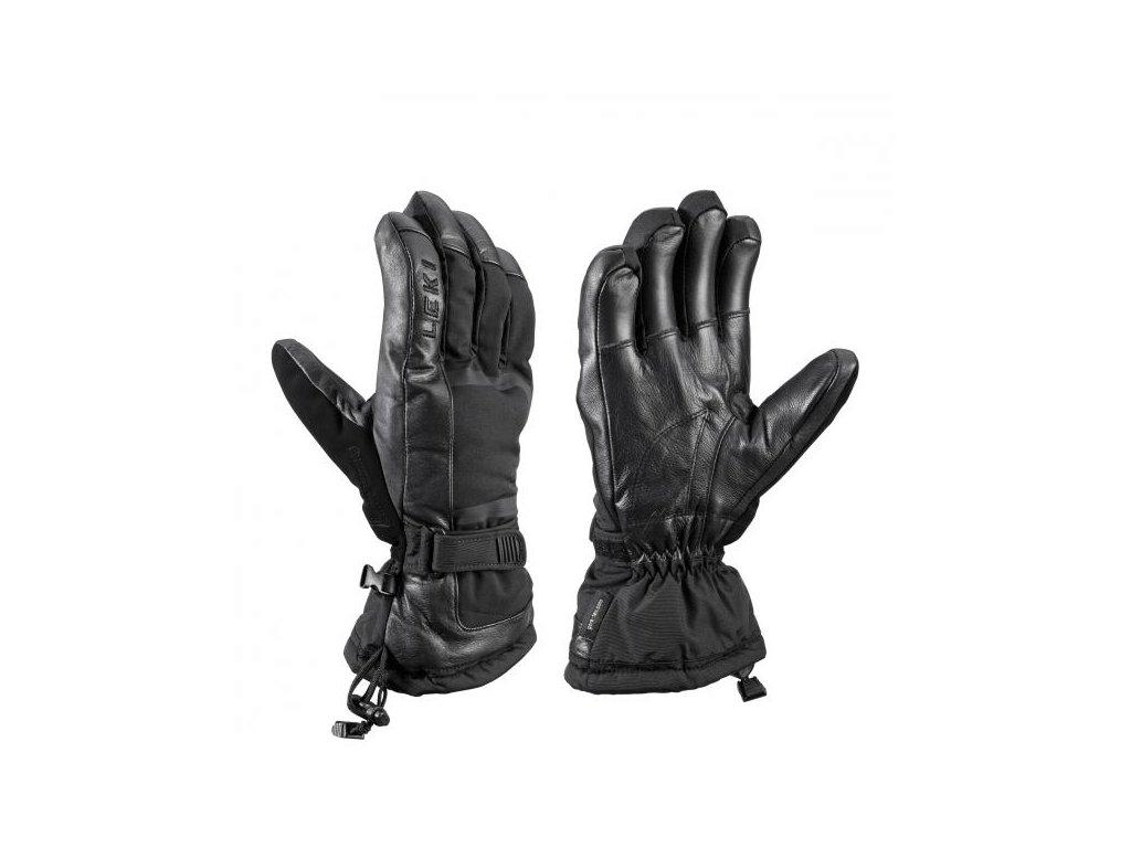 lyžařské rukavice LEKI DETECT EX, black