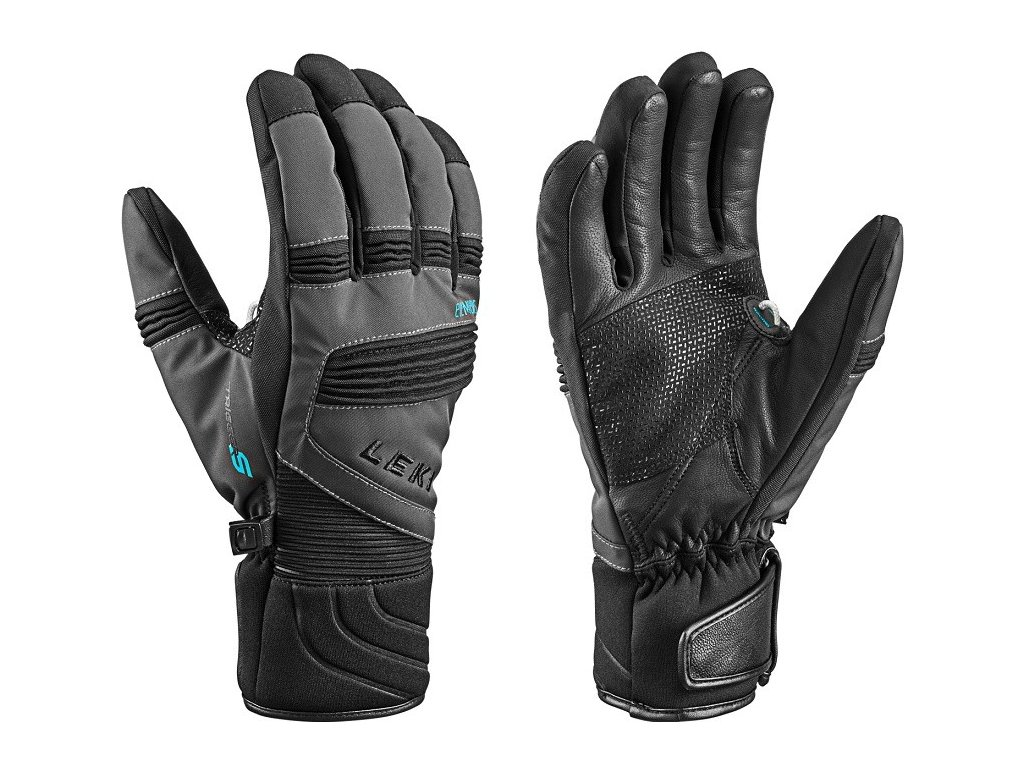LEKI Glove eleMents Palladium S charcoal black
