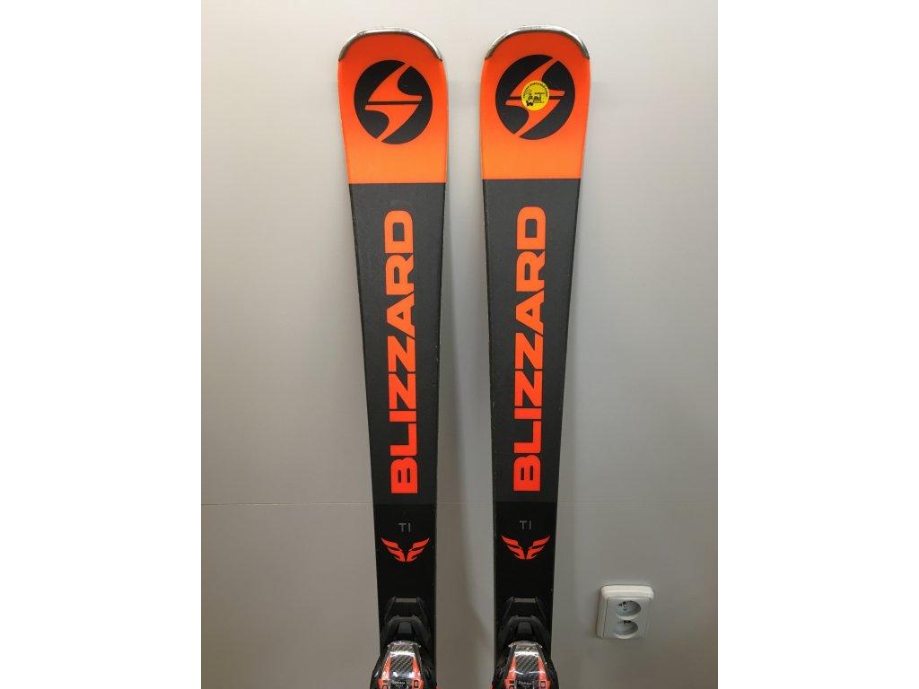 Použité lyže BLIZZARD FIREBIRD Ti, black/orange, 18/19 + vázání TPC 10 DEMO, 18/19  + montáž + seřízení vázání ZDARMA