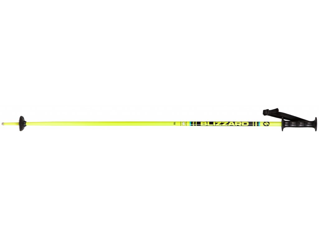 lyžařské hůlky BLIZZARD Race junior ski poles, yellow/black