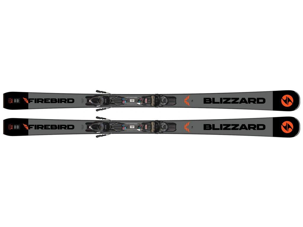 sjezdové lyže BLIZZARD FIREBIRD TI, black/grey + vázání TPC 10 DEMO, 19/20