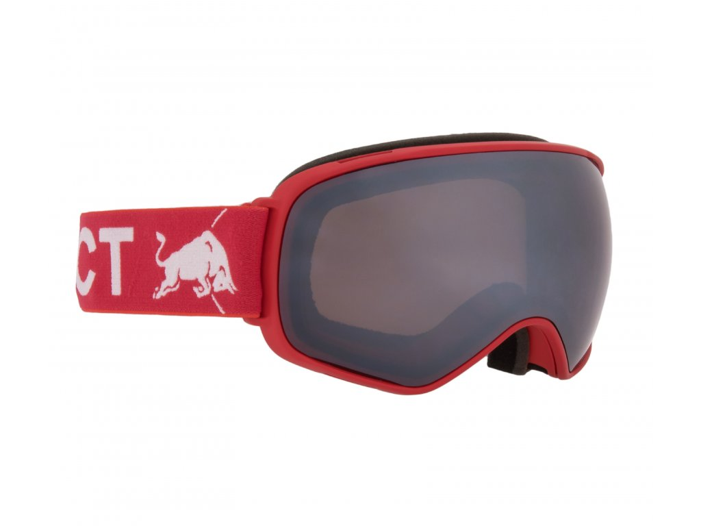 lyžařské brýle RED BULL SPECT Googles, ALLEY OOP-012, matt black frame/dark anthracite headband, lens: green snow CAT3,brown with green mirror