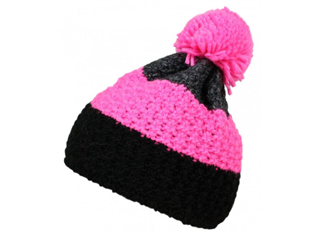čepice BLIZZARD Tricolor, grey/pink/black