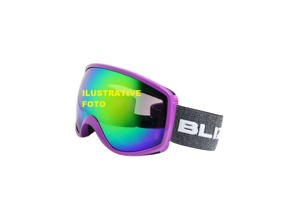 lyžařské brýle BLIZZARD BLIZ Ski Gog. 964 MDAVZOS, black matt, amber2, silver mirror