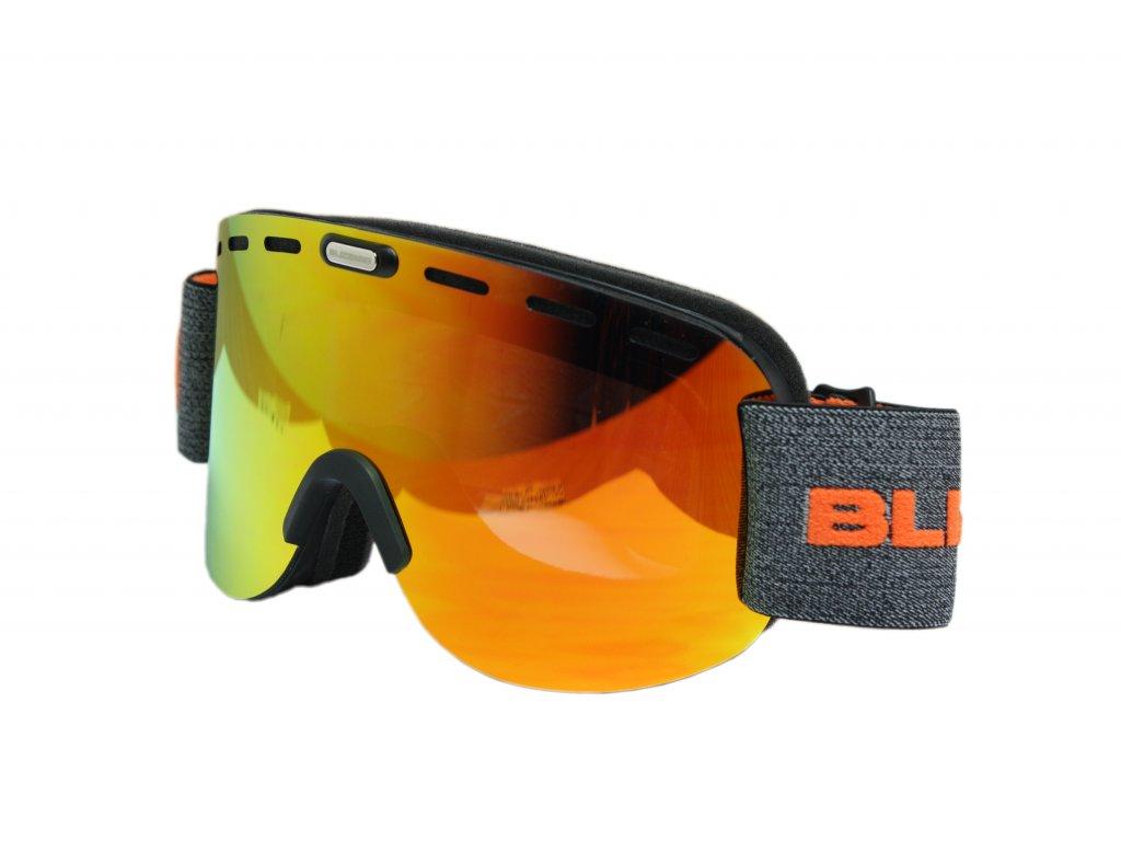lyžařské brýle BLIZZARD Ski Gog. 922 MDAVZWO, black matt, orange2, silver mirror, smart view