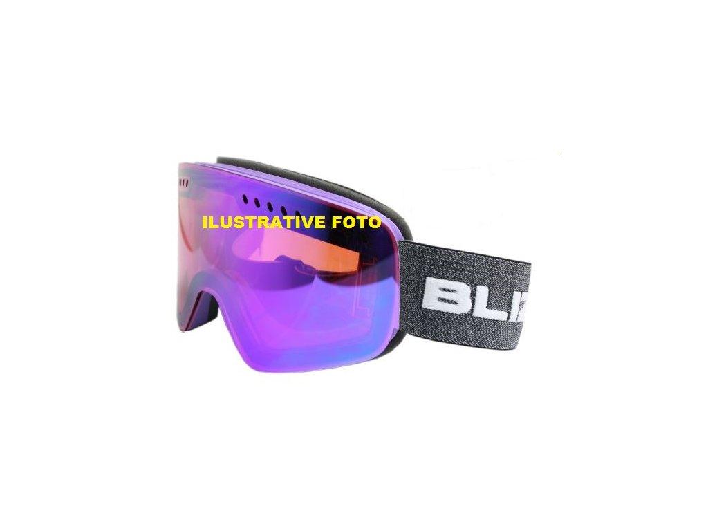 lyžařské brýle BLIZZARD BLIZ Ski Gog. 983 MDAVPFPO, black matt, 1-3, silver mirror