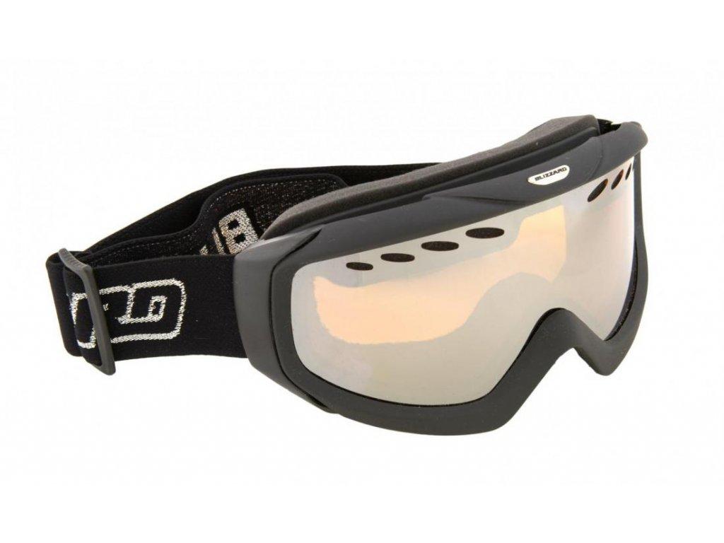 lyžařské brýle BLIZZARD BLIZ Ski Gog. 906 DAVZO-RENTAL, black, amber2, silver mirror