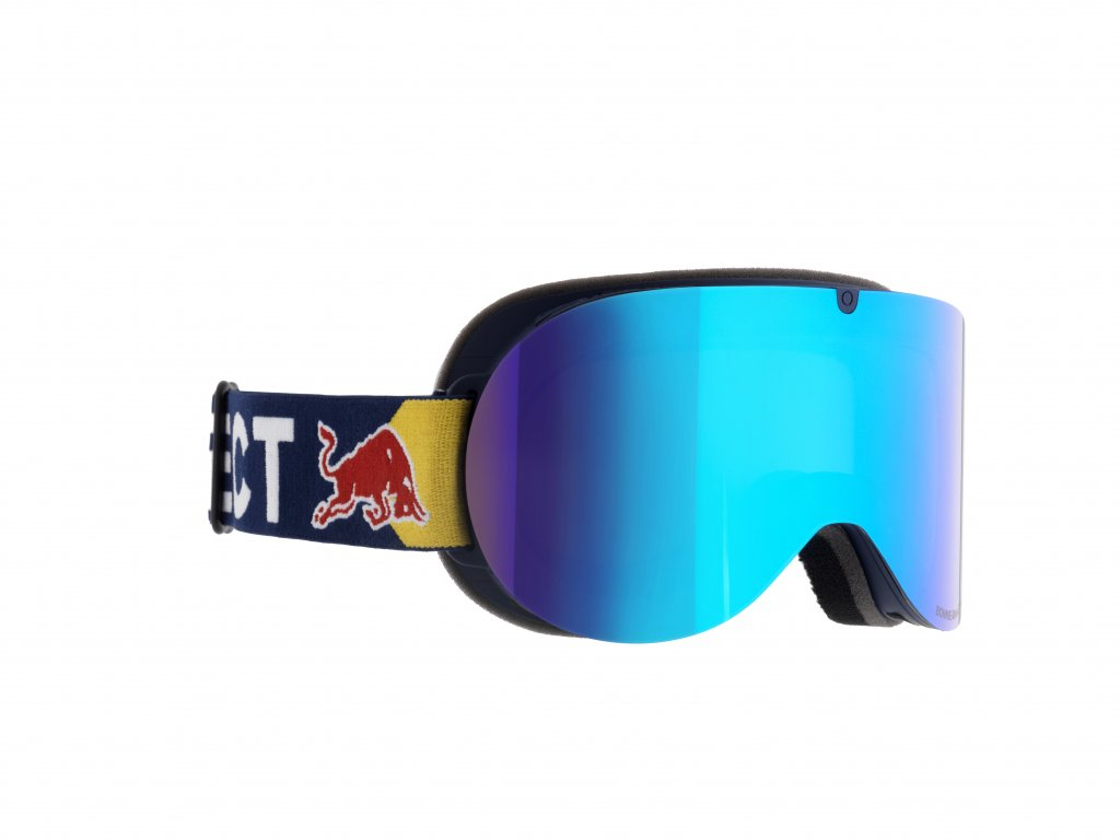 lyžařské brýle RED BULL SPECT Goggles, BONNIE-003, shiny white frame/yellow headband, lens: silver snow CAT3