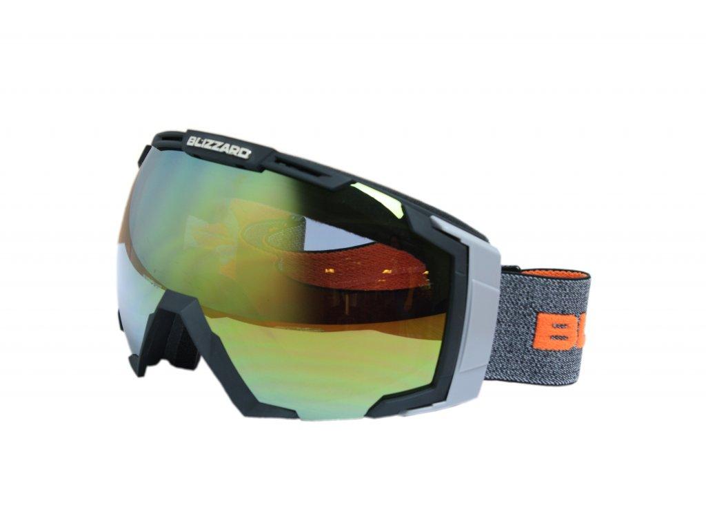 lyžařské brýle BLIZZARD BLIZ Ski Gog. 926 DAVZSWO, black , orange2, orange mirror
