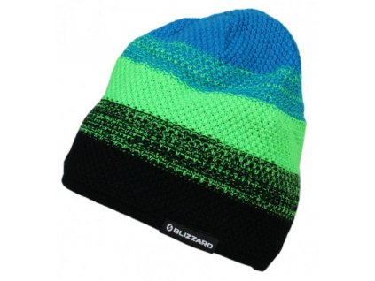 čepice BLIZZARD Cube black/neon green/blue