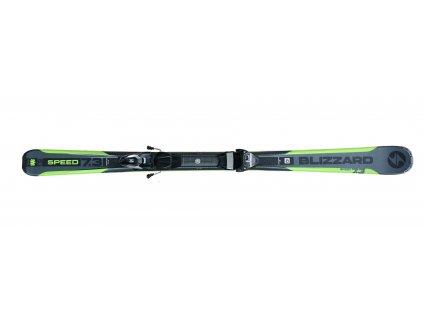 set sjezdové lyže BLIZZARD Speed 7.3 IQ, 17/18 + vázání IQ TP 10, black/anthracite, 17/18  + servis lyží + montáž + seřízení vázání ZDARMA