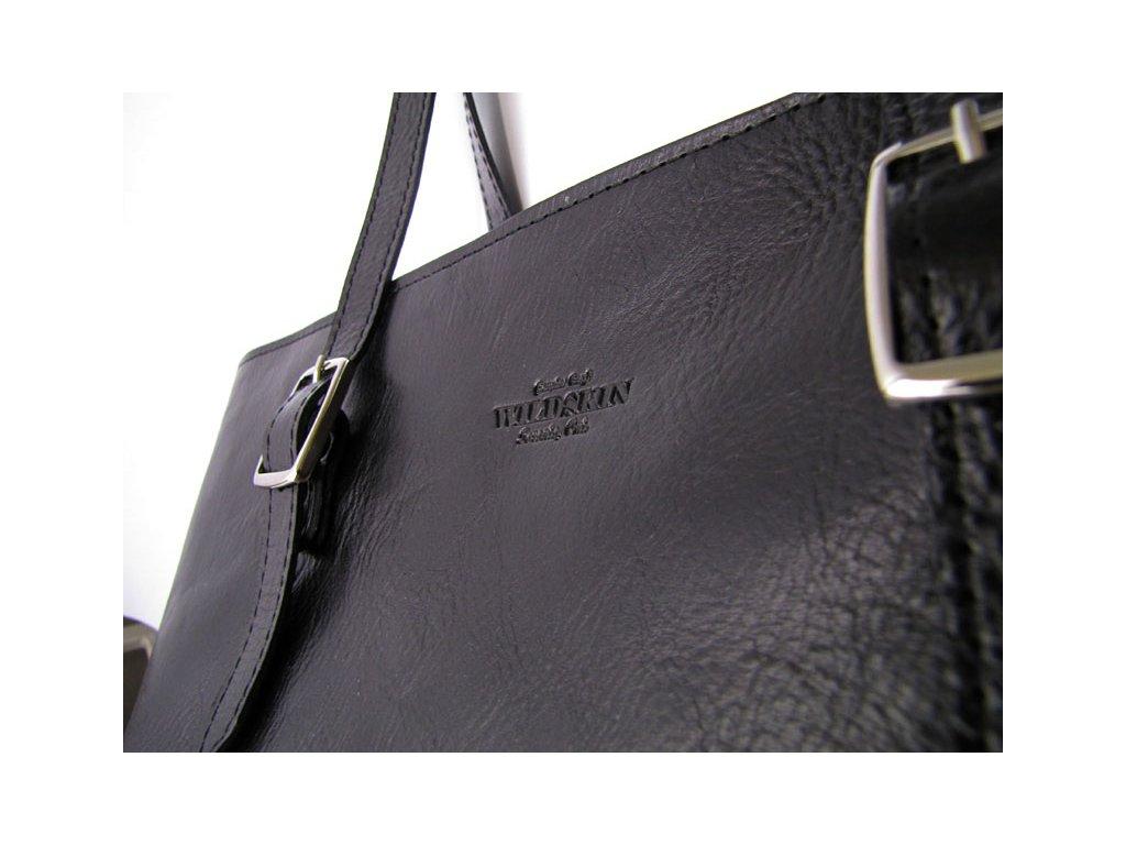 6812e127a Dámská kožená kabelka MIA - Black - WILDSKIN