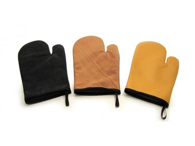 BYT.100260 kožená chňapka rukavice ke krbu, grilu (1)