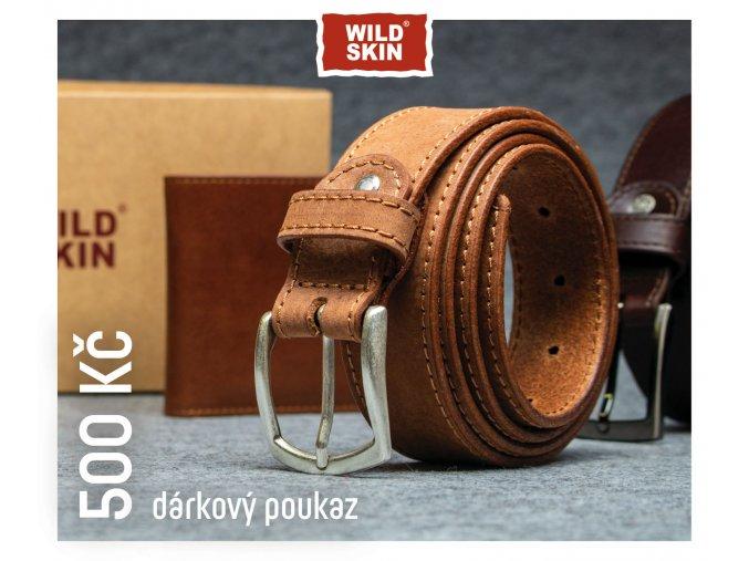 500 Kc darkovy poukaz WILDSKIN (0)