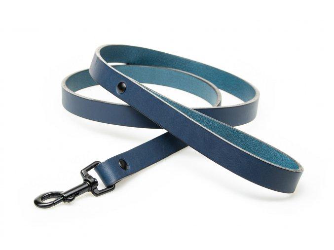 Kožené vodítko modrá OBV.100211 MOD (2)