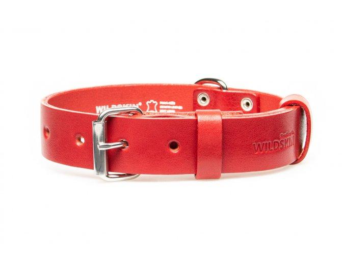 OBV.100135 CER Kožený obojek červený 30 mm (2)