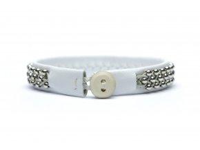 ISABELLE stříbro perla, bílá kůže (1)