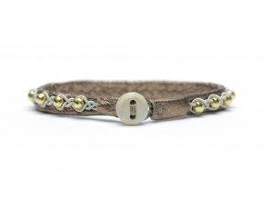 LILLY zlatá perla, bronz kůže (1)