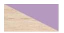 LUCAS L1 ruhaszekrény - kőrisfa + lila