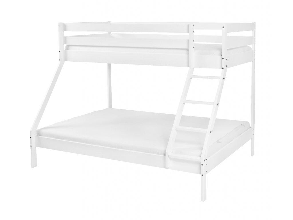 MIKAEL 200x140 emeletes ágy kiszélesített alsó fekhellyel - FEHÉR