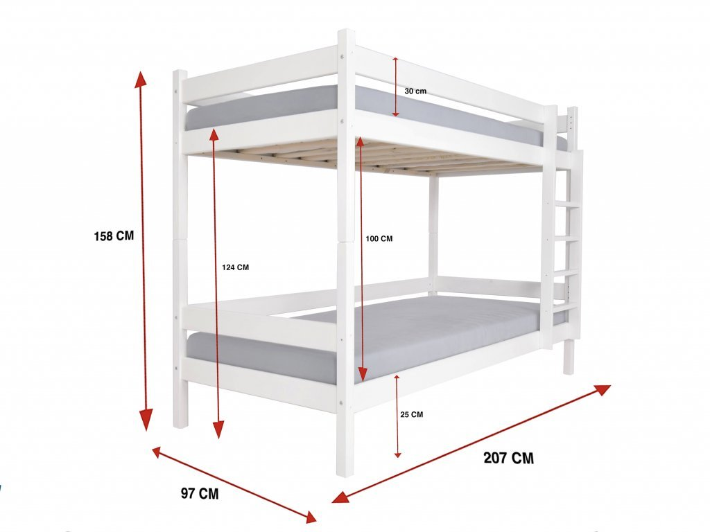 Paulína emeletes ágy 200x90