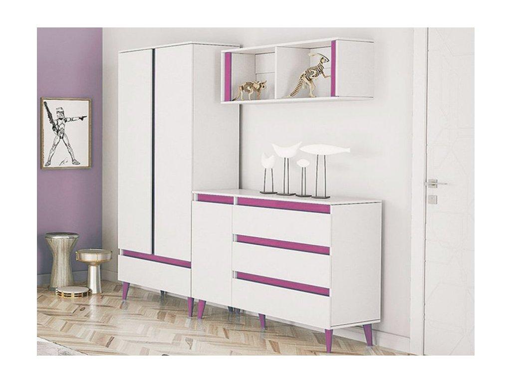 TIP 6 bútorsor - rózsaszín