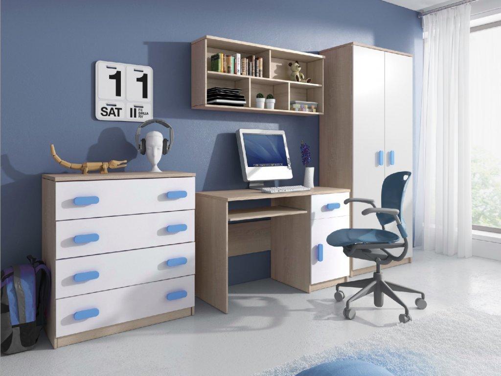 Svend szekrénysor sonoma tölgy, kék