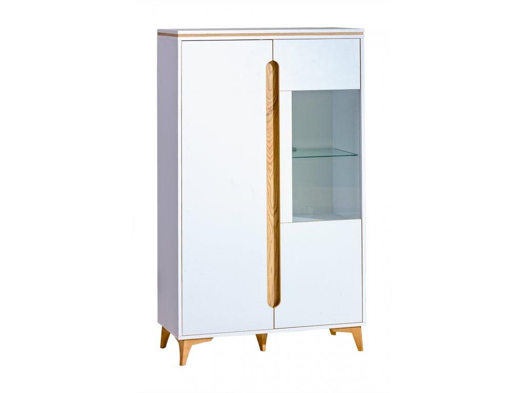 GRUMI 5 - FEHÉR üveges kétajtós szekrény