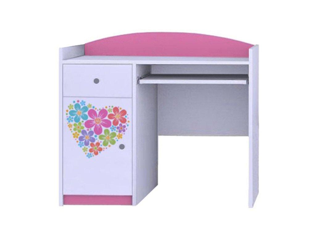 MERY B09 íróasztal - rózsaszín