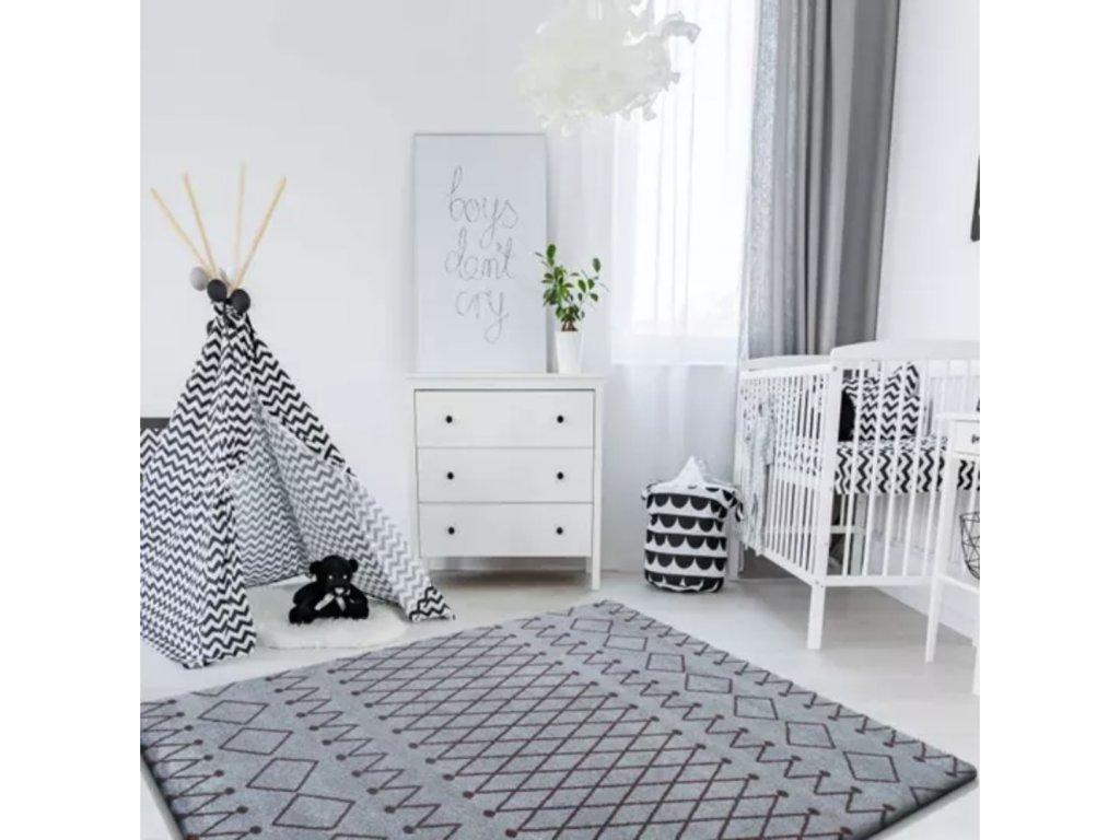 Marokko 3 Grey - szürke szőnyeg
