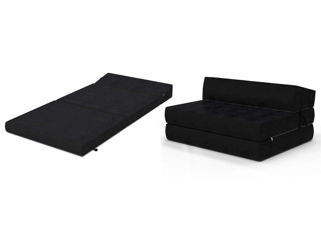 Összehajtható fotelágy 200x120 Fekete