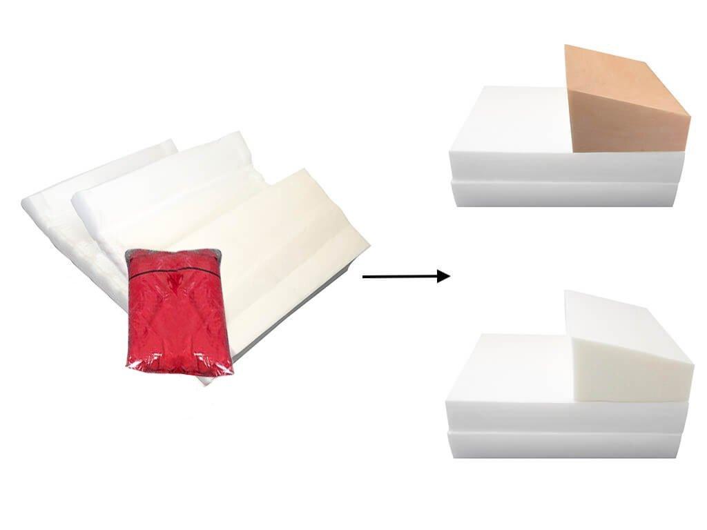 Összehajtható fotelágy 200x70 Piros